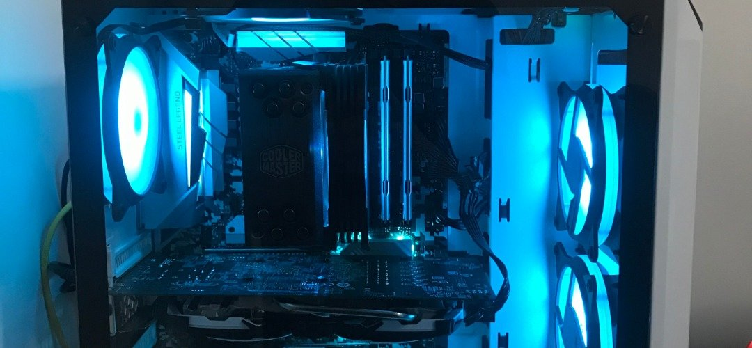 First Gaming PC Build - White RGB